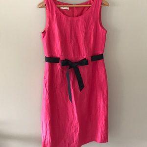 Précis UK linen blend pink shift dress